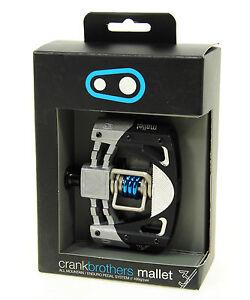 Crank Brothers Mallet 3 Platform Mountain Bike Pedals - Black/Silver/Blue