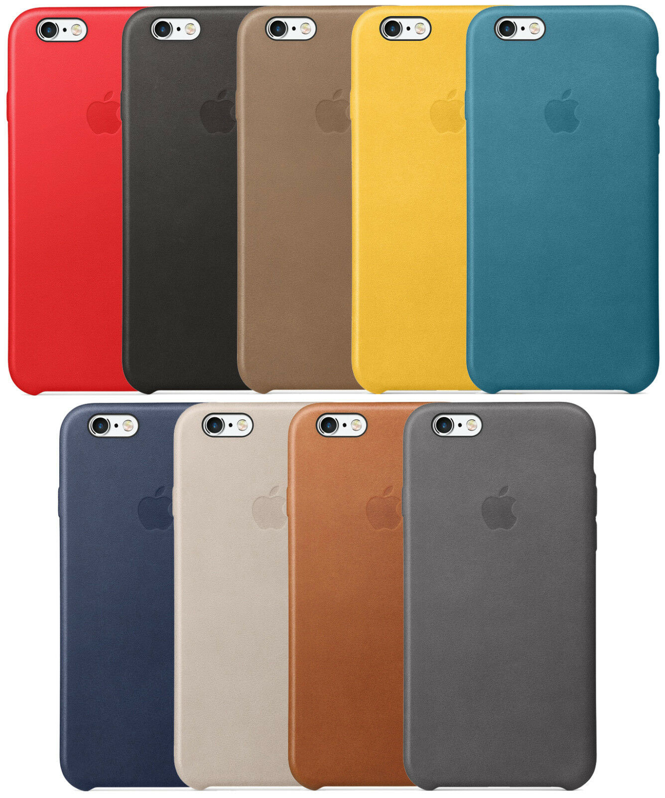 uk availability f1128 73a00 OEM Original Apple Leather Case For Apple iPhone 6 Plus and iPhone 6s Plus