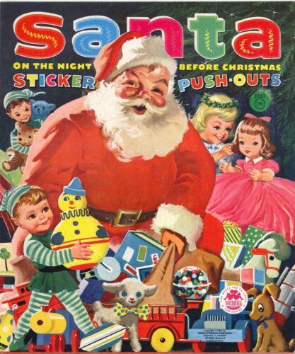 ViNTG 1950S SANTA CHRISTmas PAPER DOLL HD LASR REPRODUCTION HI QL~TOP SEL LO Pr