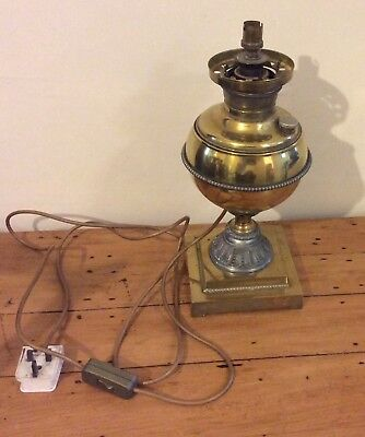 EDWARD MILLER DROP-IN OIL/KEROSENE LAMP - WRONG GALLERY AND RESERVOIR CAP