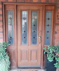 Leadlight Solid Wood Front Entry Door Building Materials Gumtree