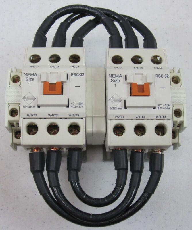 Dual Benshaw Magnetic Contactors RSC-32 NEMA Size 1 NEW