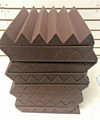 2x12x12 12 Pack Burgundy BLEMISH Acoustic Wedge Soundproofing Studio Foam Tiles