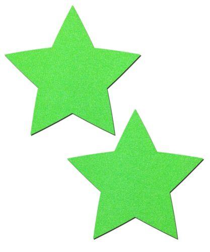 Neon Green/Glow-in-the-Dark Star Nipple Pasties by Pastease