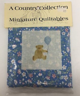 Dollhouse Miniature Country Collection MINIATURE QUILTABLES Blue Doll QUILT KIT, used for sale  Huntingdon Valley