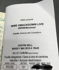 Paire de billets WWE Smackdown Live