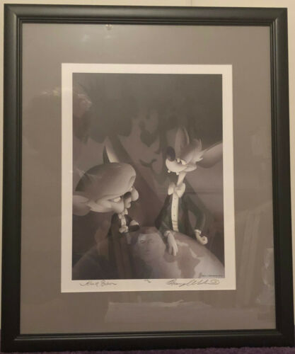 PINKY AND THE BRAIN Alan Bodner Harry Sabin hand signed lithograph Animaniacs