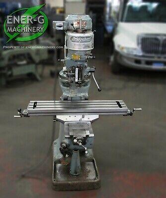 Bridgeport Series J-head Vertical Milling Machine 1 Hp 9 X 42 Table Id M-068