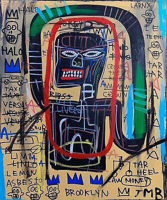 "Rare Jean Michel Basquiat Original Vintage Painting ""Brooklyn"""