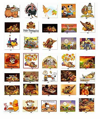 30 Personalized Return Address Thanksgiving Labels Buy 3 Get 1 Free Tg2