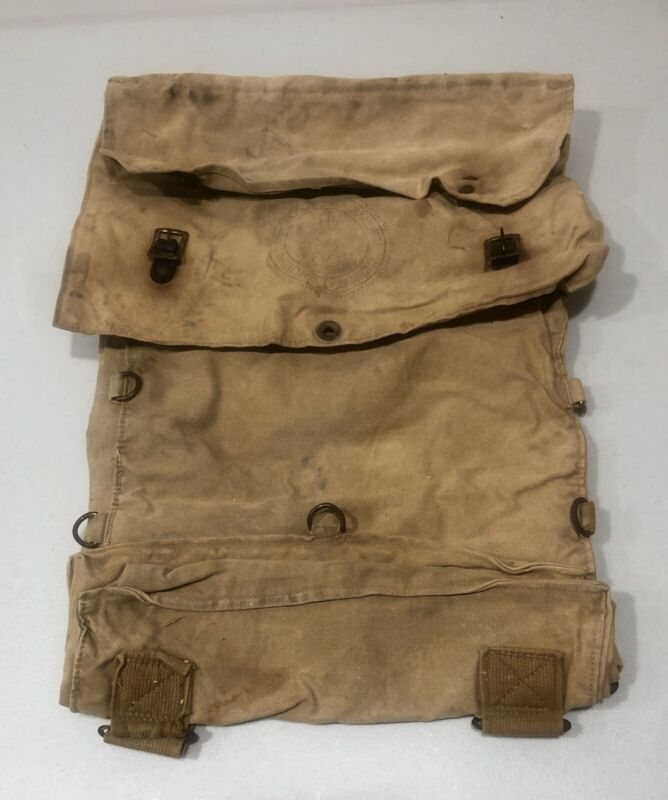 Vintage Boy Scouts Of America Backpack Knapsack Camping BSA Canvas
