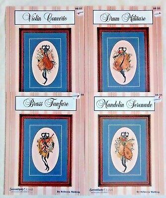 (Serendipity Renaissance Collection Cross Stitch Charts Drum Violin ++ Waldrop)