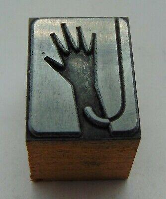 Vintage Printing Letterpress Printers Block Hand Hook Logo