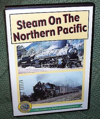 "cp010 TRAIN VIDEO DVD ""STEAM ON NORTHERN PACIFIC"" VINTAGE FILM"