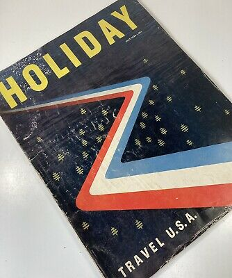 Vtg HOLIDAY Magazine Travel Fashion Advertisements Ads Paper Ephemera USA 1952