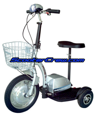 NEW 3 Wheel Electric Mobility Scooter 500w 48v 2 Speed RMB Flex 500 ScooterCrew