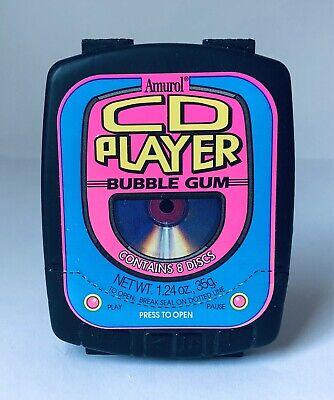 Vintage 1994 Amurol CD PLAYER Walkman Bubble Gum Container candy box W1 REG FONT