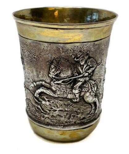 Ludwig Neresheimer German Hanau 800 Standard Silver Christening Cup