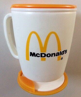 Vintage NEW 1983 McDonald's Whirley 12oz Travel Mug W/ Installation Instructions