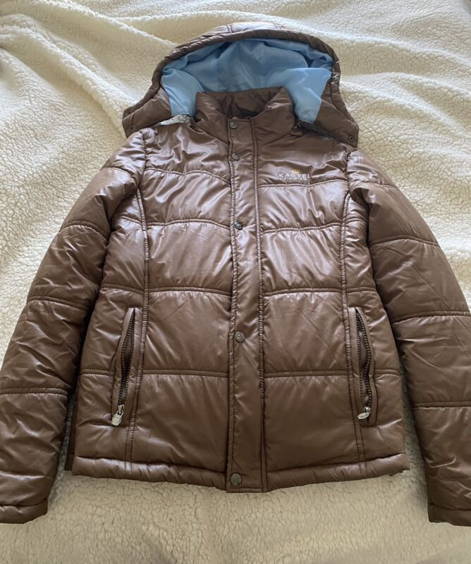 Kastel Denmark Brown Ladies Puffer Jacket   Size Small   Excellent Condition