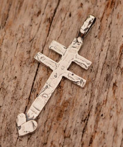 Pueblo Style Dragonfly Cross, Sterling Silver Artisan Southwest Cross, R-795