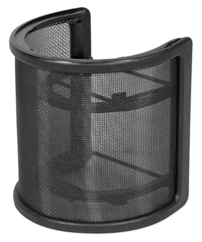 Rockville RockPop Curve Recording Mic Pop Filter Curved Mesh Windscreen in Black
