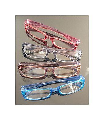 4x Lesebrillen Lesehilfe Brille Augenoptik Lesebrille Sehstärke Sehhilfe ** 4 X Optik