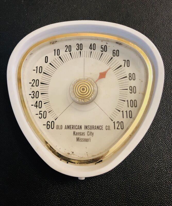 Vintage Old American Insurance Co. Kansas City Mo. 4 Season Thermometer
