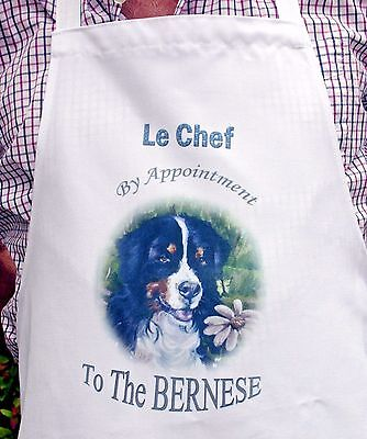 BERNESE MOUNTAIN DOG NEW DESIGN APRON KITCHEN SANDRA COEN ARTIST PAINTING PRINT