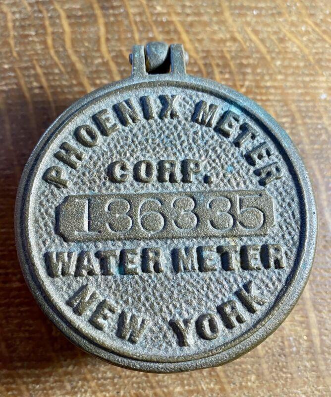 Vintage Brass Phoenix Meter Corp. New York Water Meter 136335