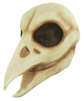 Raven Skull Adult Latex Mask Dead Skeleton Crow Bird Halloween Costume Accessory