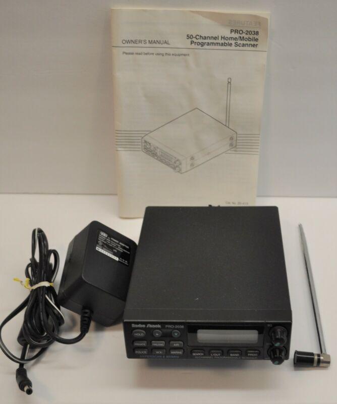 RADIO SHACK PRO-2038 50 CH SCANNER VHF UHF + 800 MHZ POLICE HAM FIRE WX BIZ