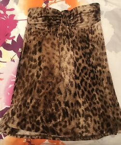GUESS STRAPLESS LEOPARD TOP  - EXCELLENT CONDITION!