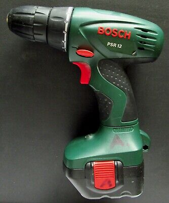 Bosch PSR-12. Taladro / atornillador electrónico con cargador y batería 12 V.