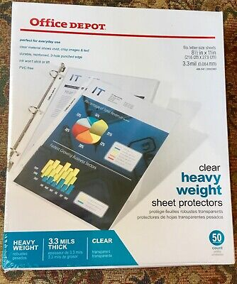 Office Depot Pvc Free Sheet Protectors Heavyweight - Pack Of 50