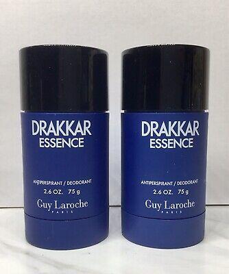 2 pc  DRAKKAR NOIR ESSENCE DEODORANT STICK 2.6 oz For Men Guy Laroche UNSEALED Drakkar Noir Deodorant Stick