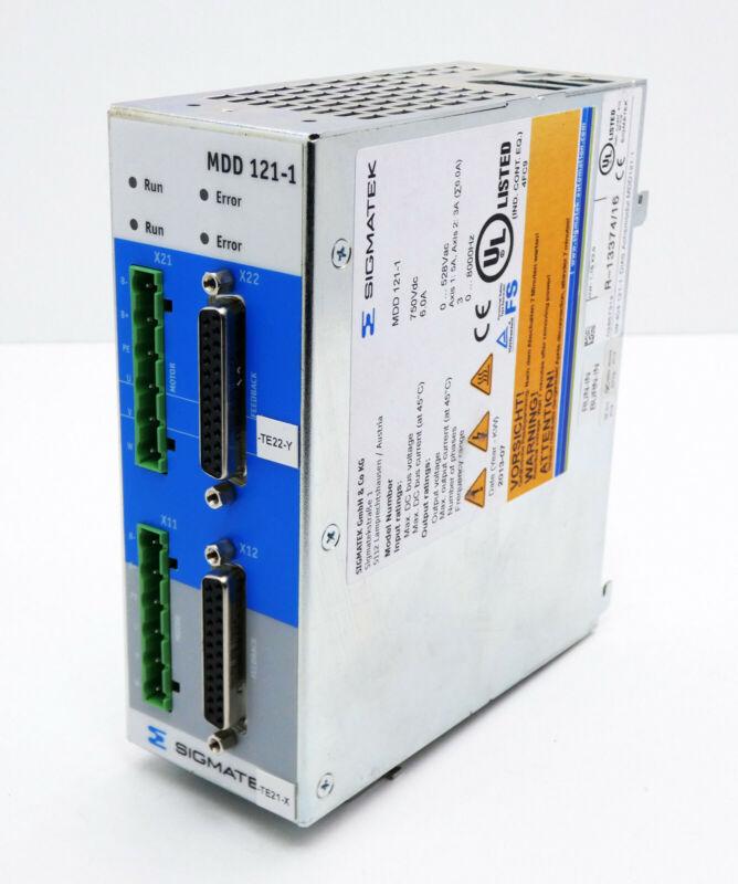 Sigmatek MDD 121-1 MDD121-1 750Vdc 6.0A HW:1.10 X2.0 DIAS Achsmodul -unused-