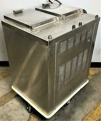 Dual Stack Plate Warmer With Lift Cover 250v Tested Working