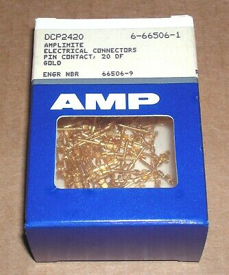 One Box Of 100 - Amp Amplimite Connector Pins - Model Dcp2420 Gold Crimp Sub-d