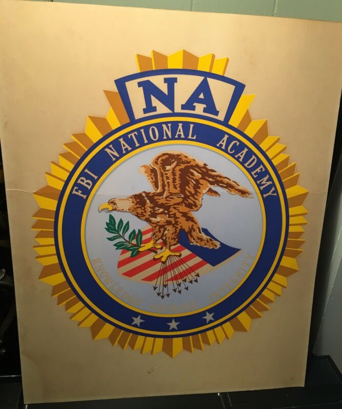 Vintage NA FBI National Academy Federal Bureau of Investigation Cardboard Poster