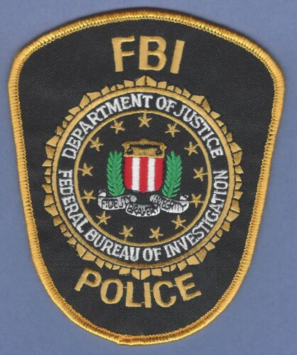 FBI FEDERAL BUREAU OF INVESTIGATION LAW ENFORCEMENT SHOULDER PATCH