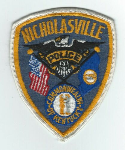 VINTAGE NICHOLASVILL, KENTUCKY POLICE (CHEESE CLOTH BACK) patch