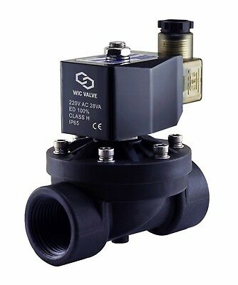 1 Inch Plastic Electric Solenoid Air Water Zero Differential Valve 220v Ac Nc