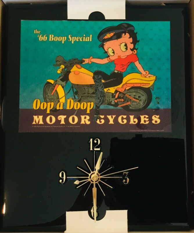 "NIB BETTY BOOP RARE! Clock 14""x10"" Wall Mount"