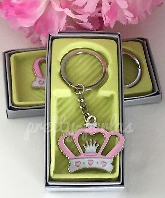 12-Quinceanera Recuerdos Party Favors Sweet 16 Miss XV Keychains Decoration Pink