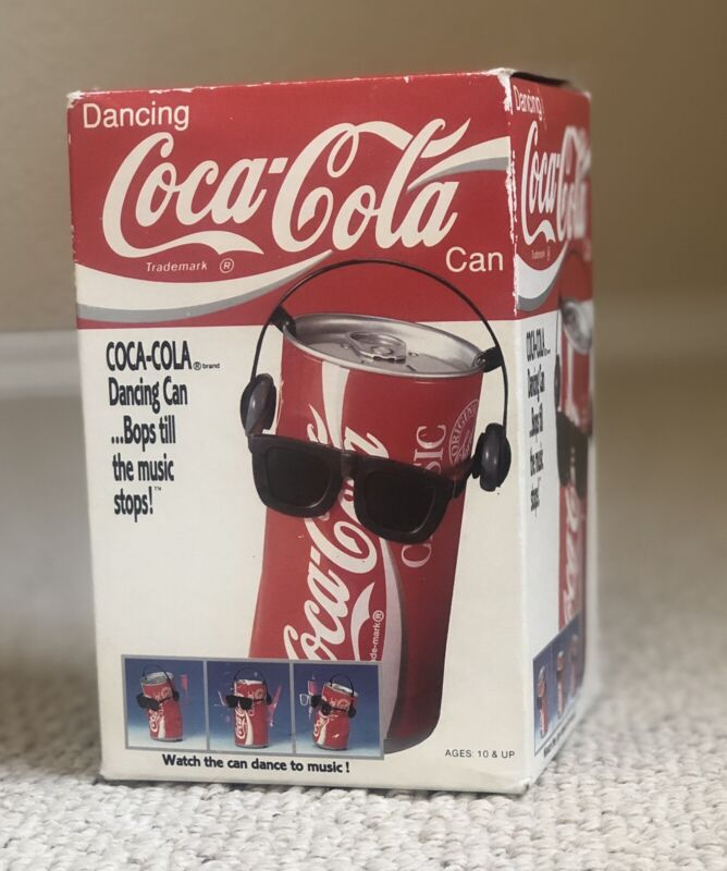 VINTAGE 1989 COCA COLA DANCING CAN SUNGLASSES HEADPHONES COKE COMPLETE IN BOX