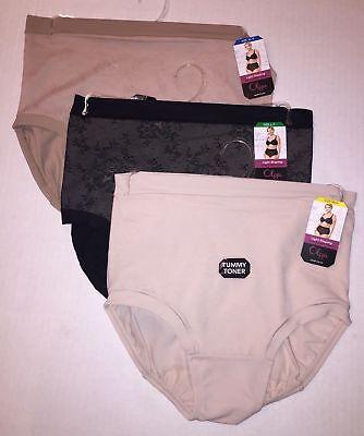 1 Olga Light Shaping Brief Lace Tummy Toner Slimming Shapewear Panties -