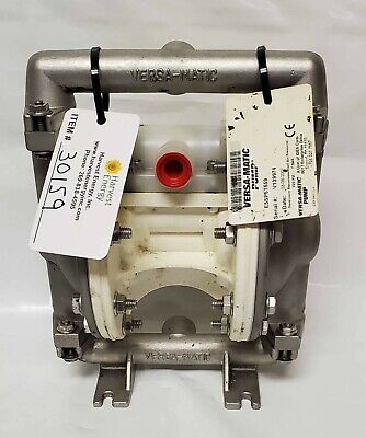 Versa-matic E5 Stainless Steel 12 Air Operated Double Diaphragm Pump 0-12 Gpm