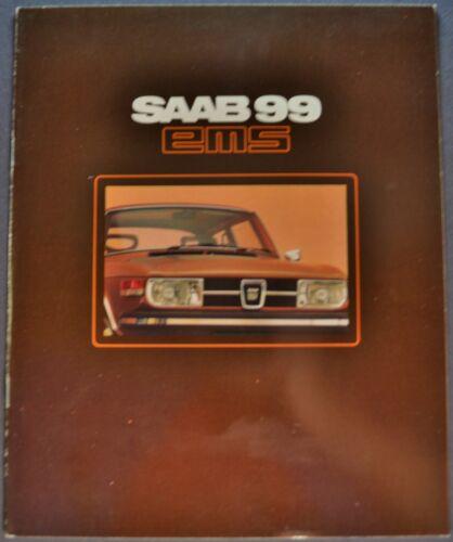 1973 Saab 99 EMS Sedan Catalog Sales Brochure Swedish Text Excellent Original 73