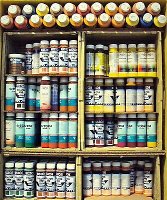 (4€/l) Restposten-Paket, verschiedene Abtönfarben u. Hersteller / 5 Liter